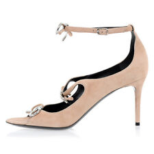 BALENCIAGA New Woman pink nude Leather Sandals Heel Shoes Made in Italy