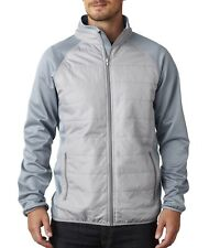 UltraClub Men's 8292 Jacket Cool & Dry Quilted Front Full-Zip Lightweight