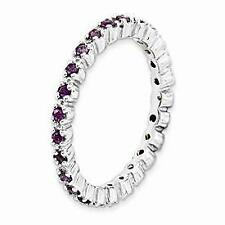 Stackable Expressions Amethyst Eternity Ring Sterling Silver Sz 5-9 Retail $77