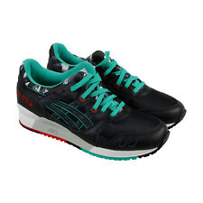 Asics Gel Lyte III Mens Black Leather & Textile Athletic Lace Up Running Shoes