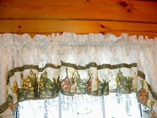 Vino SAGE Wine Bottles Kitchen Curtain Tier, Valance, OR Swag Grapes Tuscan Chef