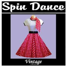 50s 60s Rock-n-Roll Vintage Style Rockabilly Swing Full Circle Skirt WITH SCARF
