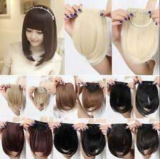 Thick  Hot Real Straight Bang Clip in on Fringe Hair Extensions Humans Hairpiece