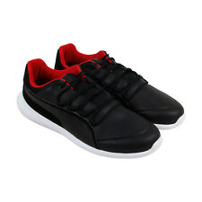 Puma Sf Evo Cat Mens Black Leather Lace Up Sneakers Shoes