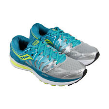 Saucony Hurricane Womens Blue Mesh & synthetic Athletic Lace Up Running Shoes