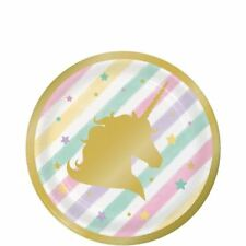 Unicorn Sparkle Foil Stamped Party Supplies - Plates, Napkins, Tablecover