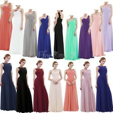 Women Chiffon Lace Long Dress Evening Formal Party Bridesmaid Ball Gown Prom