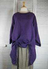 Drapery Long Sleeve Flax Linen Top in 18 Colors S M L XL by Blue Fish Red Moon