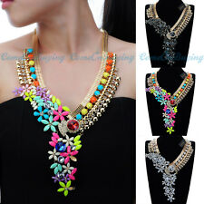 Luxury Statement Choker Necklace Ethnic Cluster Pendant Bib Fashion Jewelry