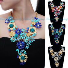 Fashion Jewelry Resin Acrylic Cluster Choker Statement Pendant Bib Necklace New