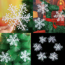 3/6pcs White Snowflake Christmas Ornaments Xmas Tree Hanging Party Decoration