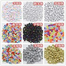 NEW 100/500/1000pcs mixed letters - digital beads DIY alphabet beads 4X7mm color