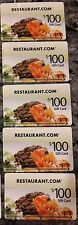 $500  Restaurant.com Gift Card - Free FAST Shipping, NEVER Expires!
