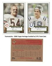 2006 Topps Heritage W/SPs (1-407) Football Set ** Pick Your Team **
