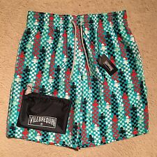 Vilebrequin Okoa Lighthouse Swim Shorts Trunk Turquoise Size M-XXL RRP: £190.00