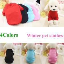 Puppy Pet Dog Cat Clothes Hoodie Winter Warm Sweater Coat Costume Apparel NEW