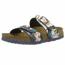 Papillio Sydney Painted Bloom Navy Womens Birko-Flor Strapped Sandals