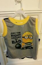 Despicable Me Boys Minions Shorts Pajamas 2 Piece Set, Siz M & L - New w/ Tags