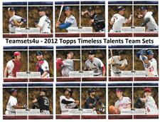 2012 Topps Timeless Talents Baseball Set ** Pick Your Team **