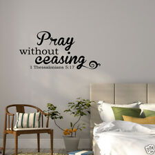 Wall Decal Pray Without Ceasing 1 Thessalonians 5:17 Vinyl Sticker GD127