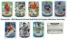 2013 Bowman Chrome Draft Picks & Prospects Refractors Set ** Pick Your team **