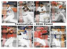 2016 Finest Baseball Set ** Pick Your Team **