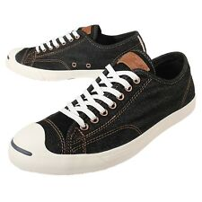 Converse Jack Purcell LP L/S Black Denim Men Women Classic Casual Shoes 152940C