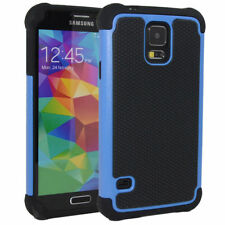 Blue Samsung Galaxy S5 Heavy Duty Defender Tough Shockproof Case Cover