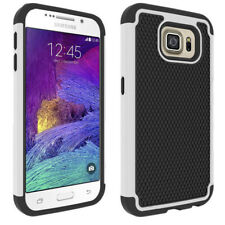 White Heavy Duty Defender Case For Samsung Galaxy S6 Edge Phone Cover