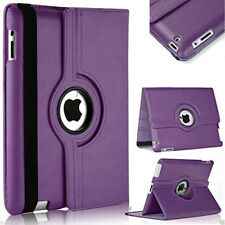 Purple Apple iPad Mini 4 360 Degree Rotating Leather Stand Case Smart Cover