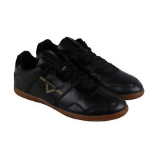 Diesel S Zip Luxx Mens Black Leather Lace Up Sneakers Shoes