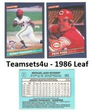 1986 Leaf Baseball Set ** Pick Your Team **