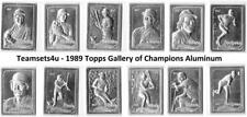 1989 Topps Gallery of Champions Aluminum Baseball Set ** Pick Your Team **