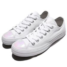 Converse Chuck Taylor All Star White Silver Canvas Women Shoes Sneakers 558006C