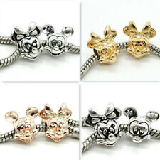 5pcs silver/gold/gold KC European Charm Beads Fit 925 Necklace Bracelet Chain