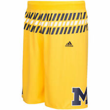 adidas Michigan Wolverines Maize Premier Basketball Shorts - College