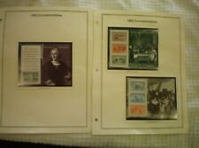 1992 COMMEMORATIVE  AMERICAN STAMP COLLECTION / 159 UNUSED STAMPS