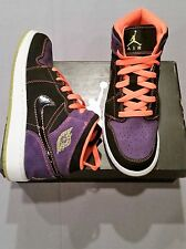AIR JORDAN 1 PHAT GS KIDS SHOES BLACK PURPLE ORANGE NEW IN BOX 364771 047