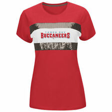 Majestic Tampa Bay Buccaneers Women's Red Touchdown Queen T-Shirt - NFL