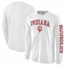 Indiana Hoosiers White Distressed Arch Over Logo Long Sleeve Hit T-Shirt