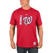 Majestic Washington Nationals Red Authentic Collection Team Icon T-Shirt - MLB