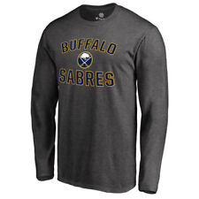 Fanatics Branded Buffalo Sabres Heathered Gray Victory Arch Long Sleeve T-Shirt