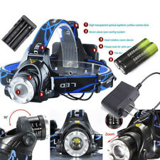 36000LM XM-L T6 LED Headlamp Zoomable HeadLight Torch+18650 Battery+Charger US F