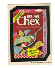 1973 Topps Wacky Packages 4th Series 4 Rare Pulled Title Bum Chex EX