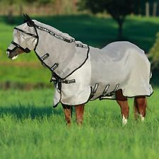 Rambo Fly Buster With Vamoose Unisex Horse Rug - Oatmeal Black All Sizes