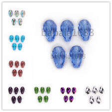 18x12mm Faceted Glass Crystal Teardrop  Bead Loose Spacer Beads Charms Findings