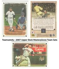 2007 Upper Deck Masterpieces Baseball Set ** Pick Your Team **
