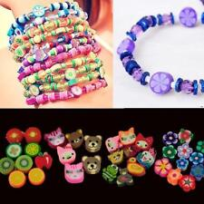 100 PCS Clay Beads DIY Slices Mixed Color Fimo Polymer Clay W3LE 01