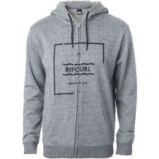 Rip Curl Broken Square Mens Hoody Zip - Cement Marle All Sizes