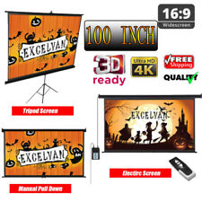 Manual/Pull Up/Electric Motorized 100Inch 16:9 1080P Home Movie Projector Screen